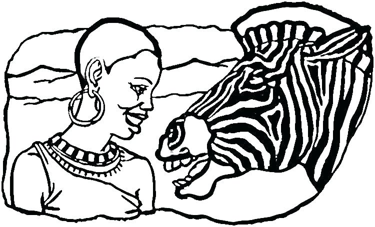 750x455 Africa Coloring Page