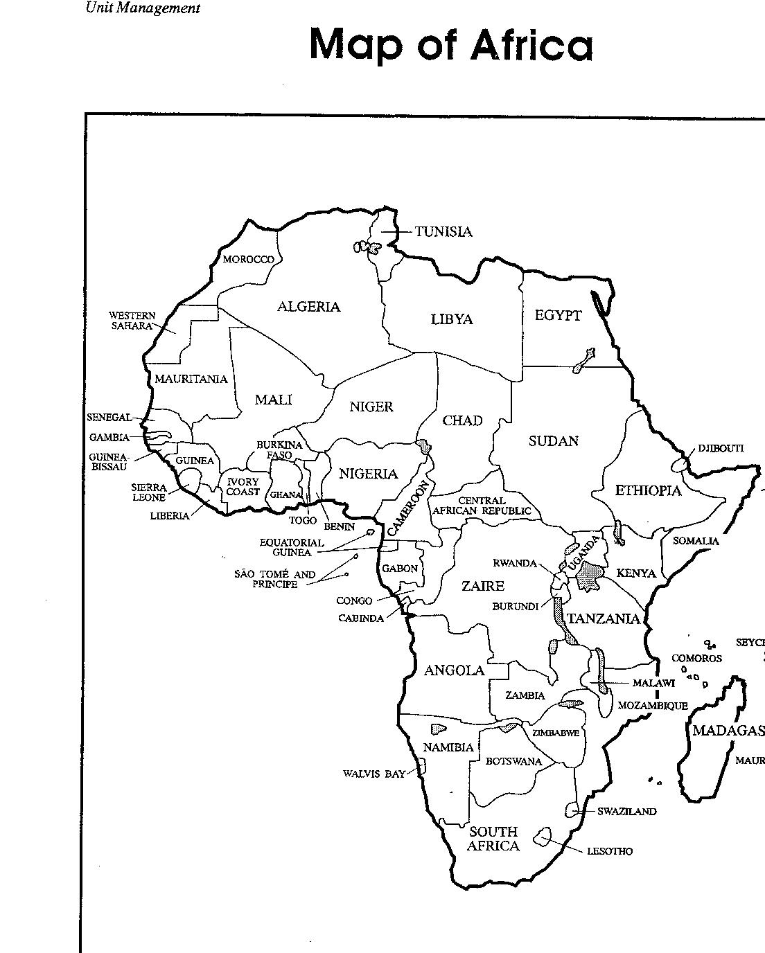 Africa Map Coloring Pages At Getdrawings Free Download