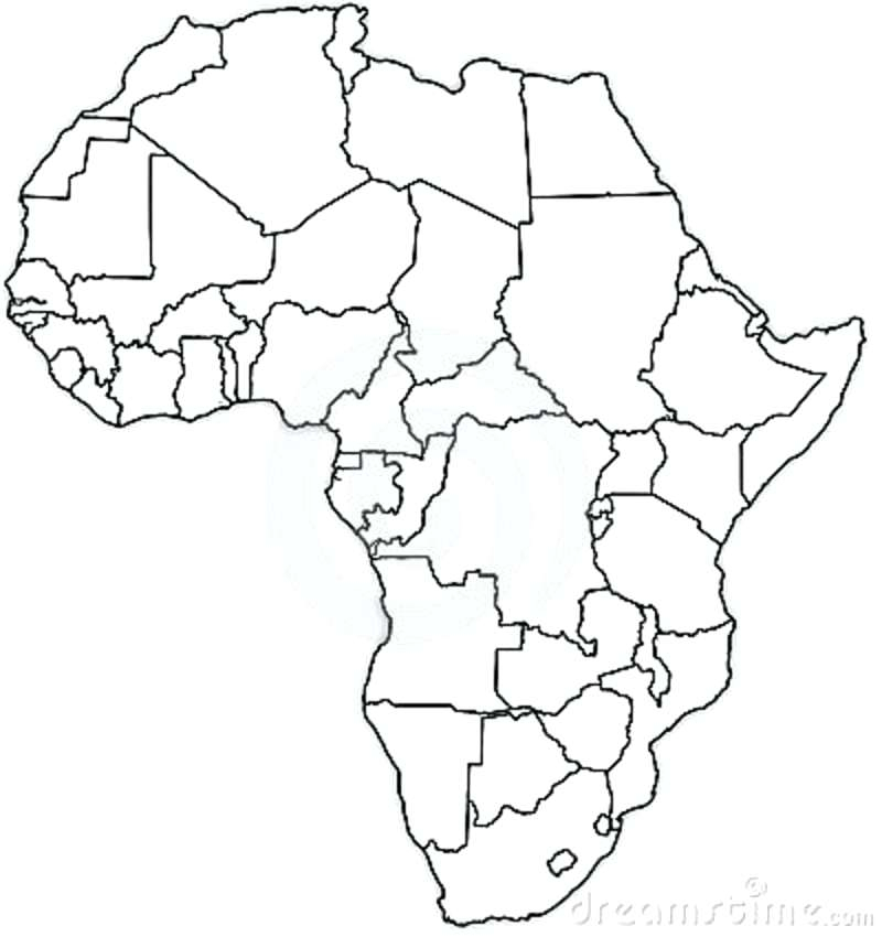 800x850 Empty Africa Map Map Of Africa Coloring Page Empty Map Free