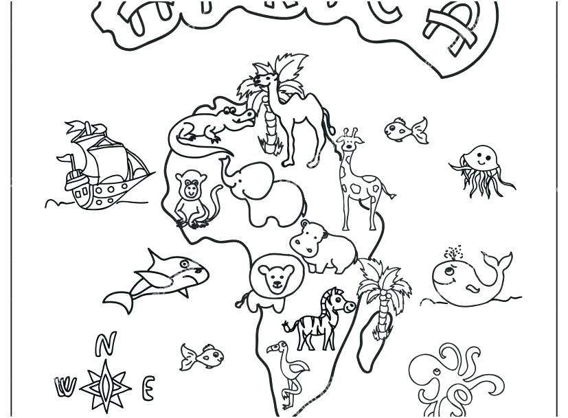 Africa Map Coloring Pages At Getdrawings Com Free For Personal Use
