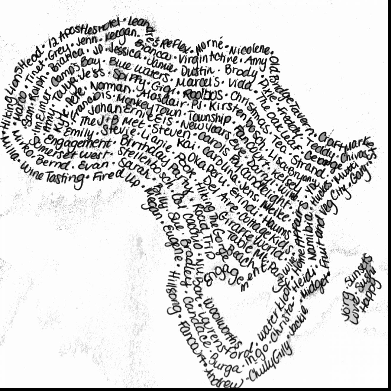 1320x1320 South Africa Map Coloring Page Pages