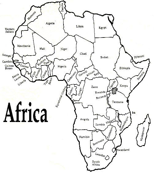 502x563 Printable African Map With Countries Labled Free Printable Maps