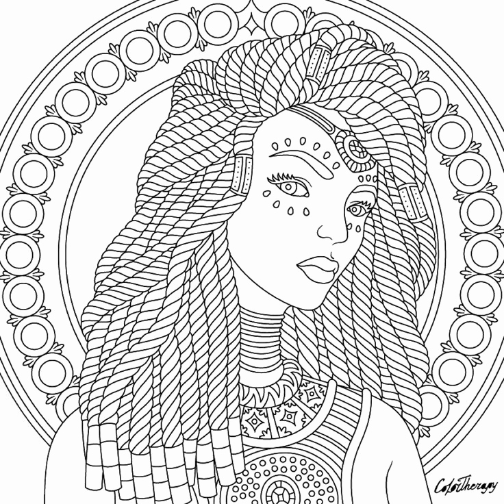 736x736 Black Women Coloring Pages Stock Woman Coloring Pages