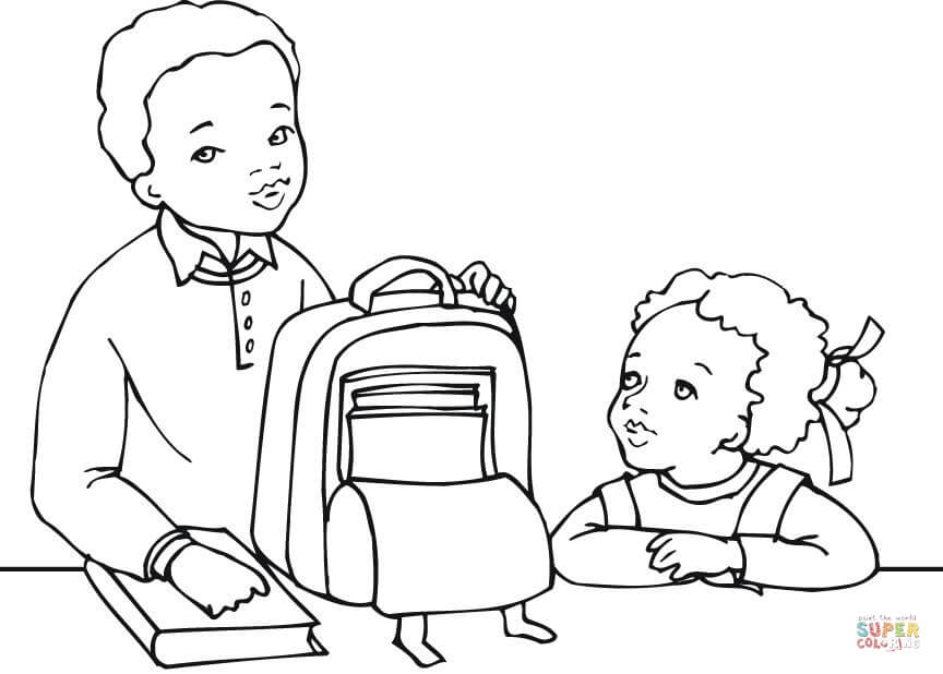 864x618 African American Coloring Pages African American Boy And Girl