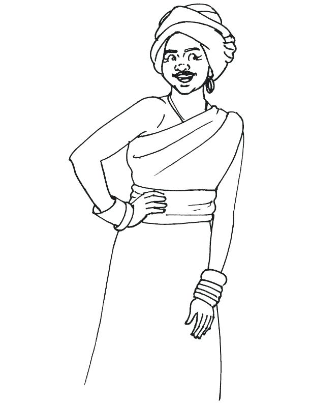612x792 African American Culture Coloring Pages Free Printable Black