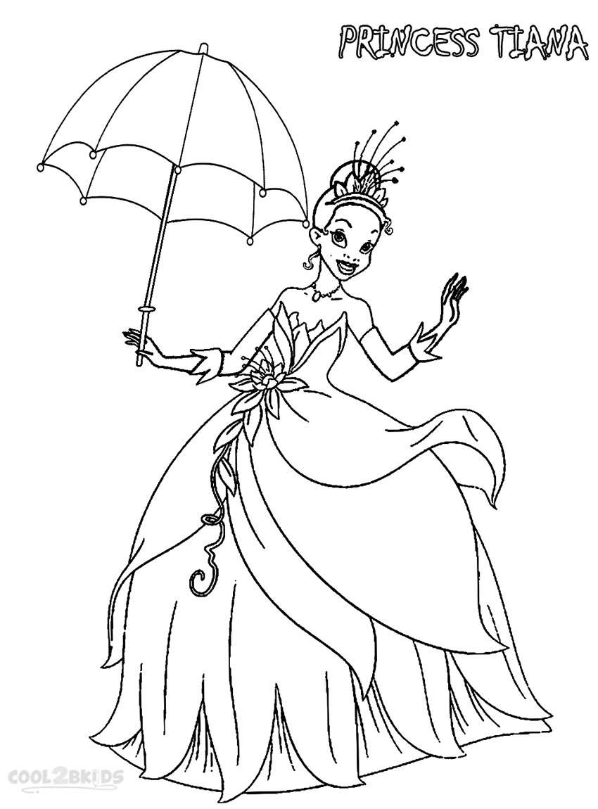 850x1150 Printable Princess Tiana Coloring Pages For Kids