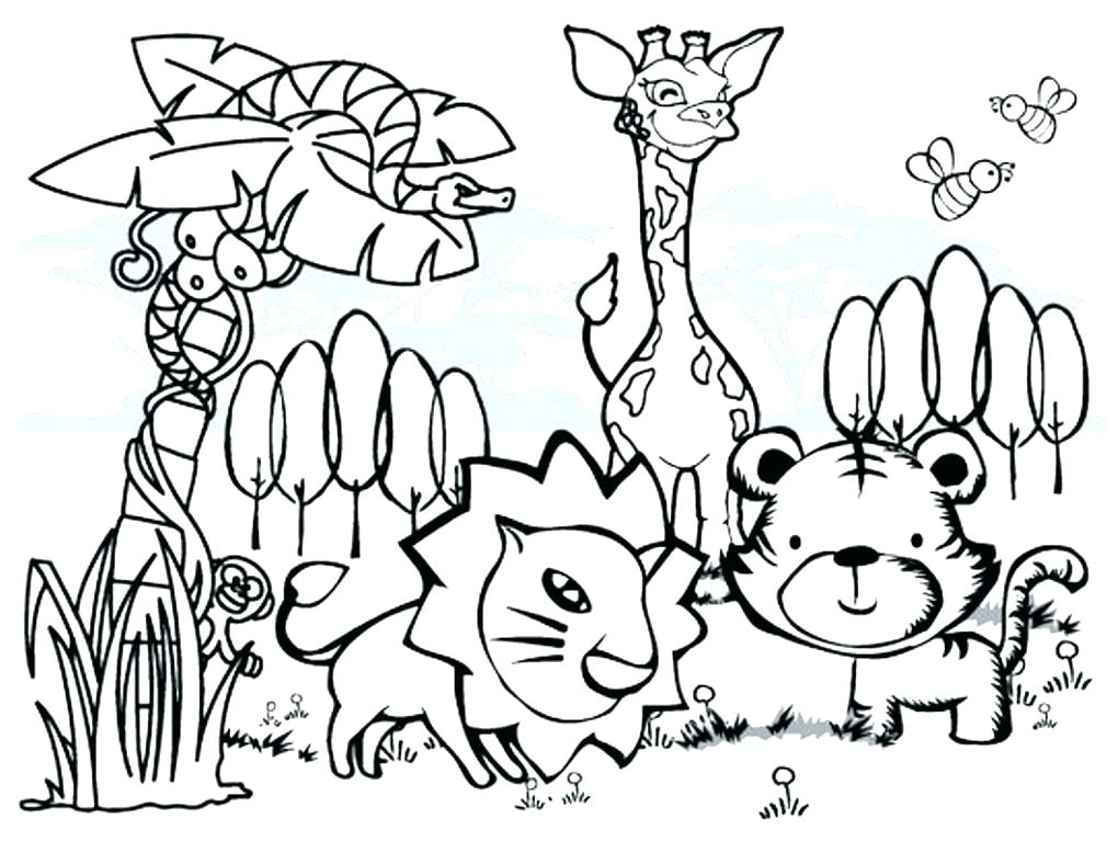 1020x768 African Animal Coloring Pages Wildlife Coloring Pages Animals