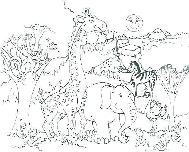 618x497 African Animals Coloring Pages Animal Coloring Pages Free African