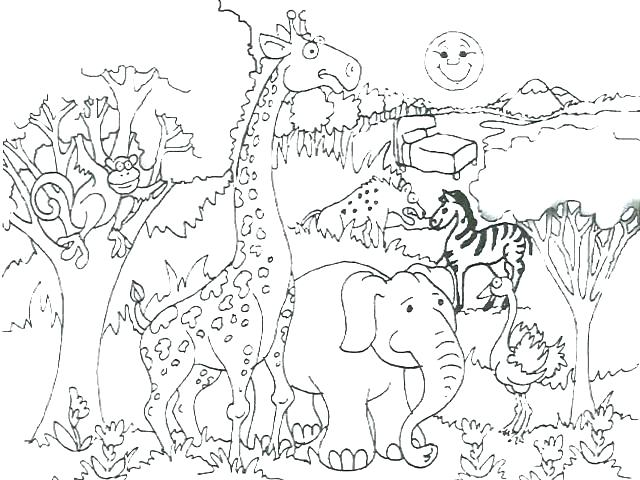 640x480 African Coloring Pages African Animals Coloring Book Pages