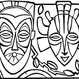 African Art Coloring Pages
