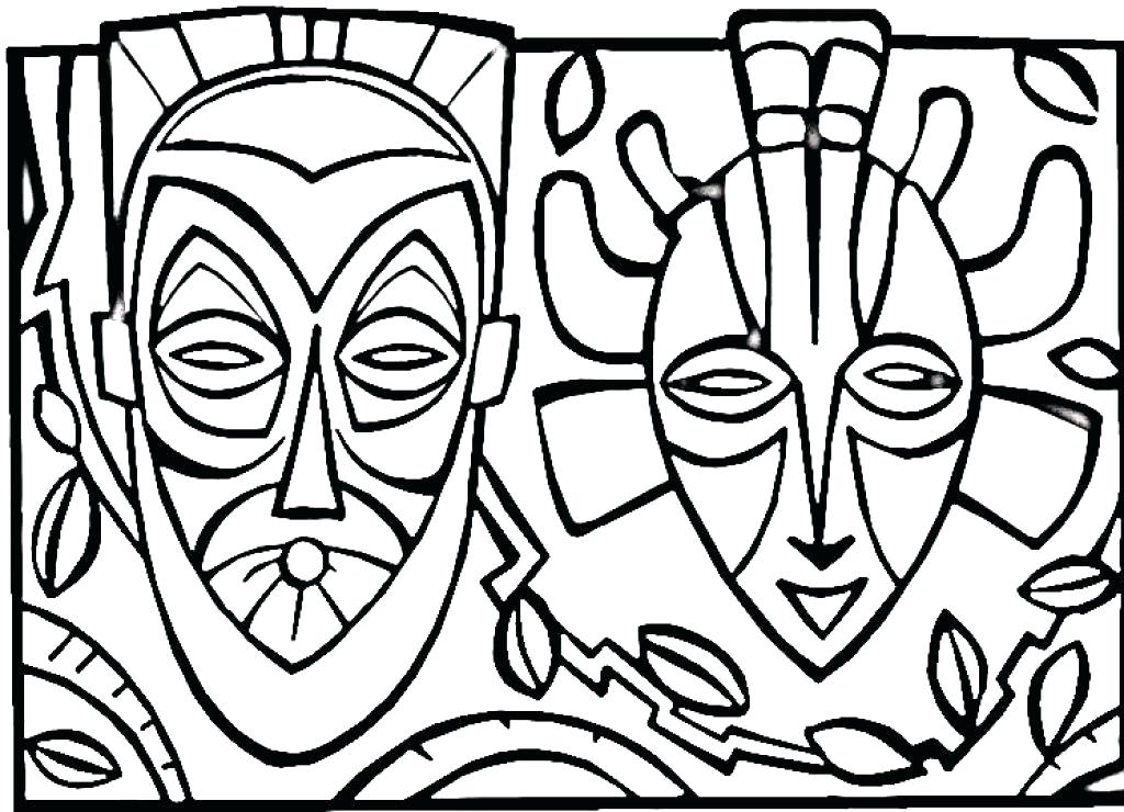 1024x740 African Coloring Pages Map Of Coloring Page African American Art