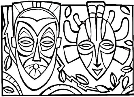 465x337 Surfboard Coloring African Tribal Mask Coloring Pages Index