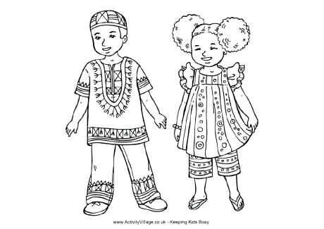 African Culture Coloring Pages At Getdrawings Com Free For