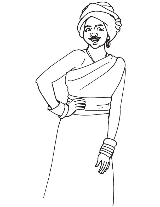 612x792 African Culture Coloring Pages Color Bros