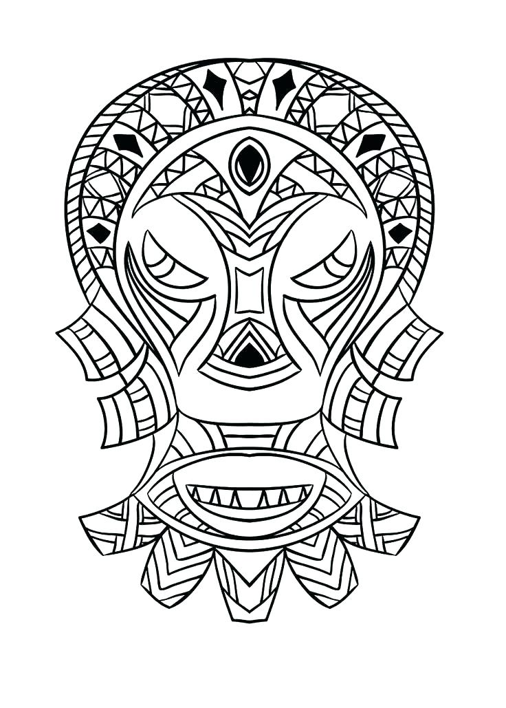 736x1029 African Mask Coloring Pages Good Culture Coloring Pages