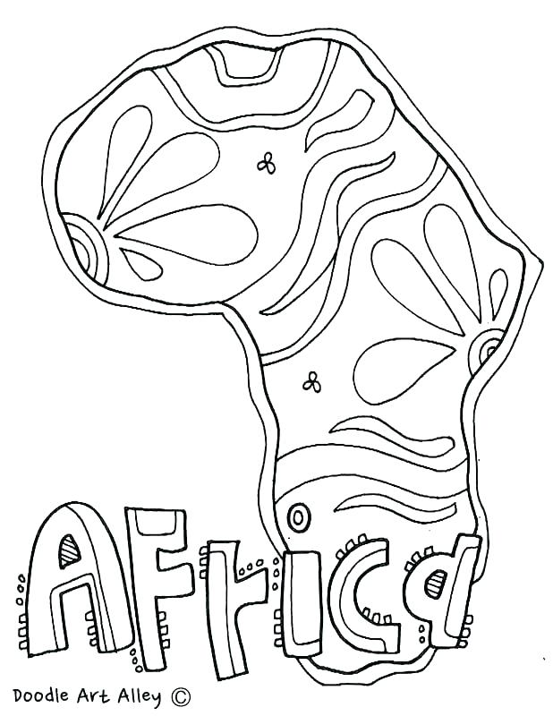618x800 African Culture Coloring Pages