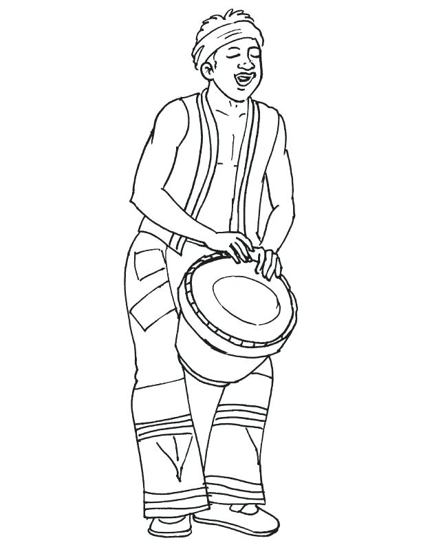 612x792 African Culture Coloring Pages