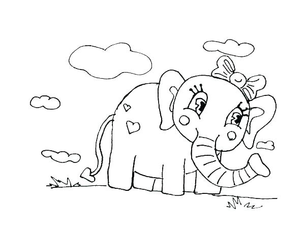 600x463 Coloring Page Elephant Elephant Coloring Pages For Adults Elephant