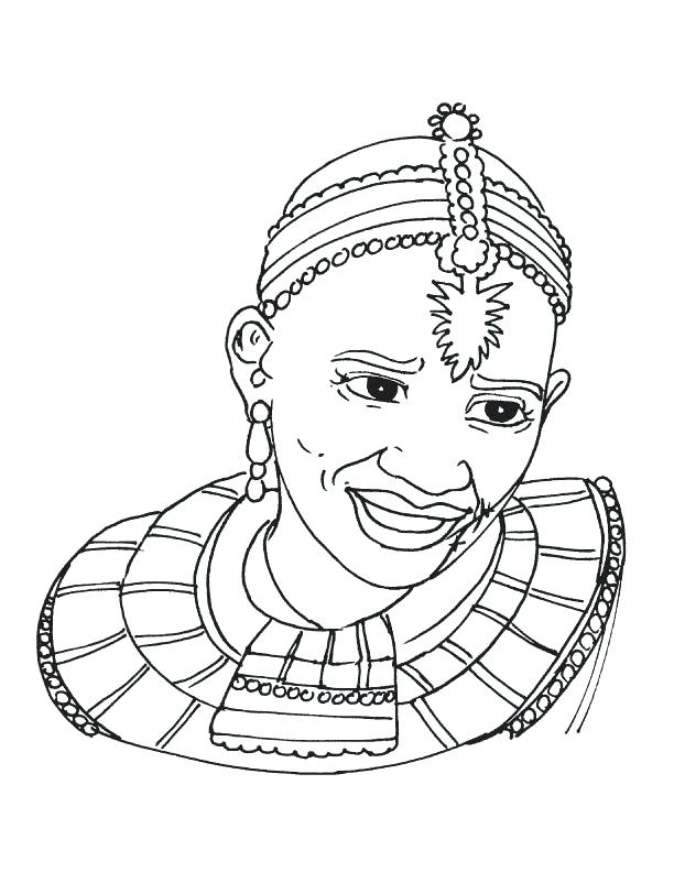612x792 African Clothing Coloring Pages Tribal Woman Coloring Page African
