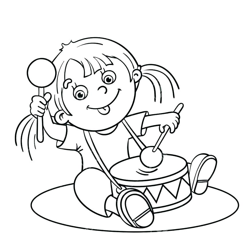 863x863 Drum Coloring Pages Drum Coloring Pages To Print Coloring Page