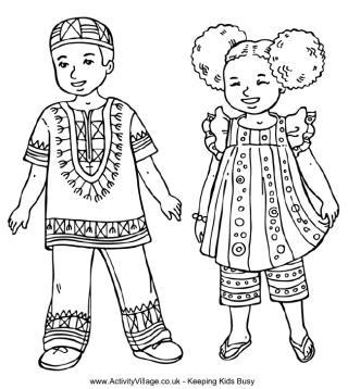 320x358 Free Coloring Pages For Children Of Color