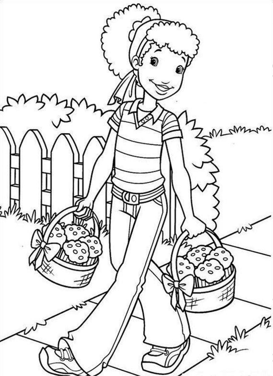 900x1240 High Tech Vintage Holly Hobbie Coloring Pages Free Printable No