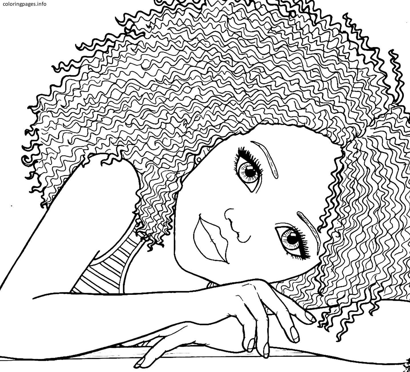 1436x1302 The Best African American Girl Coloring Pages Printable Black Pic