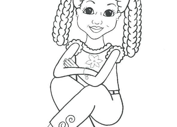 592x425 African American Coloring Pages