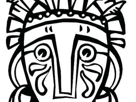 440x330 African Mask Coloring Pages Mask Coloring Pages Mask Coloring Page