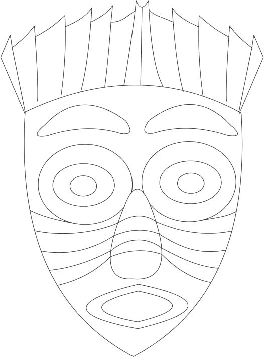 526x712 African Mask Coloring Pages Mask Coloring Page African Mask