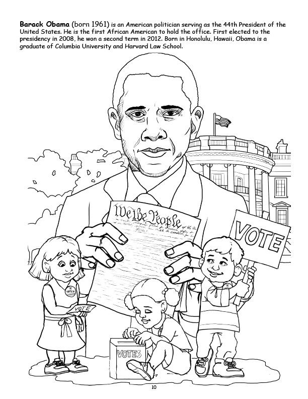 612x792 Coloring Books African American Leaders Power Panel