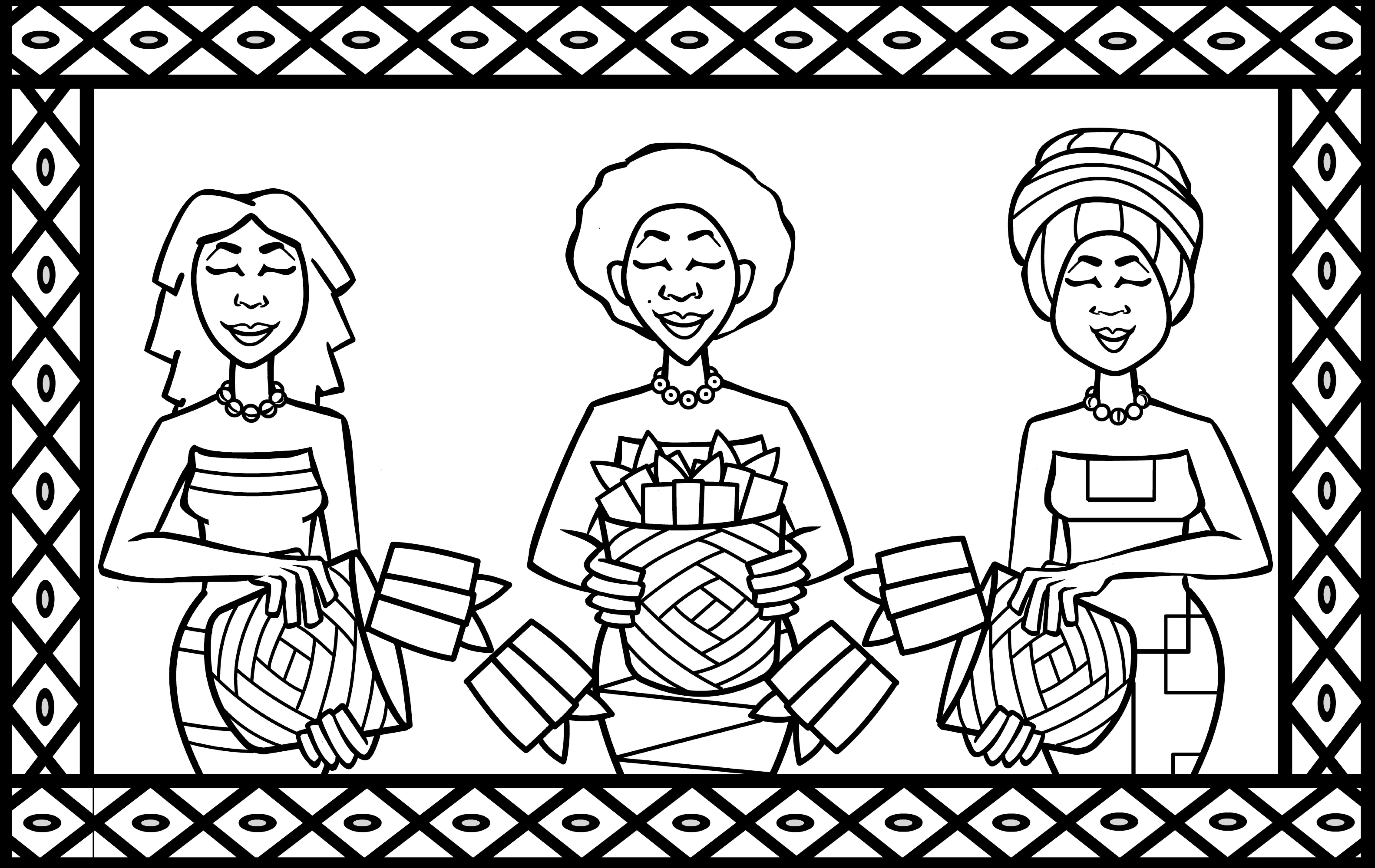 6596x4167 Hispanic Heritage Coloring Pages