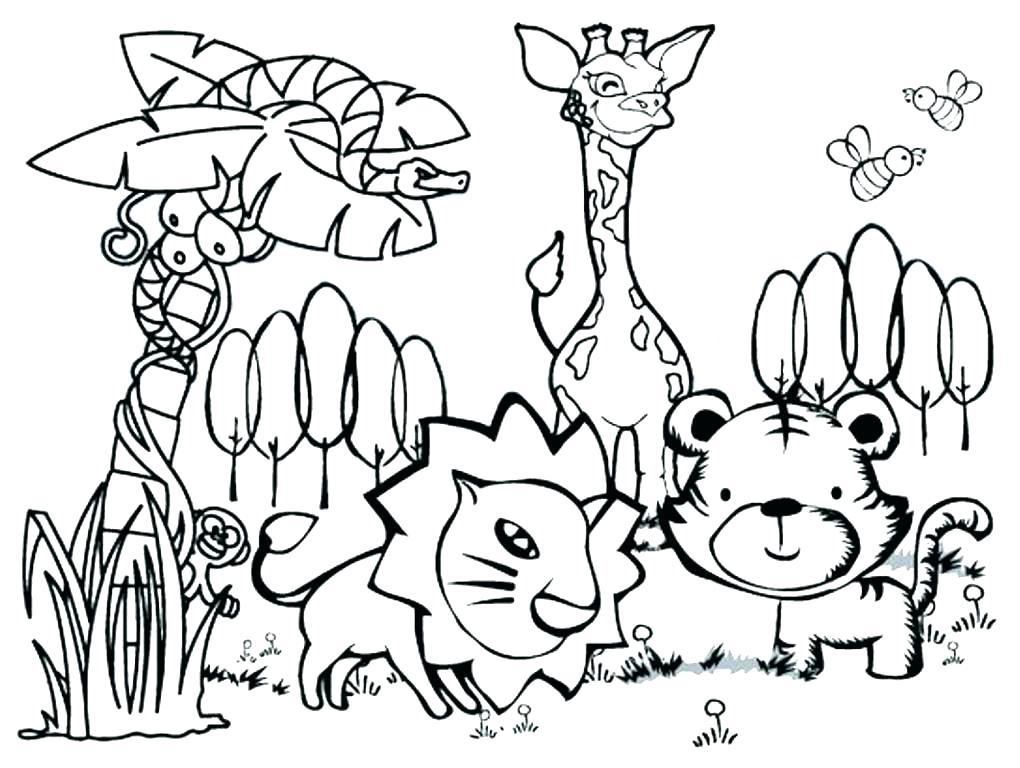 1020x768 Animal Coloring Pages Printable Baby Animal Coloring Pages Free