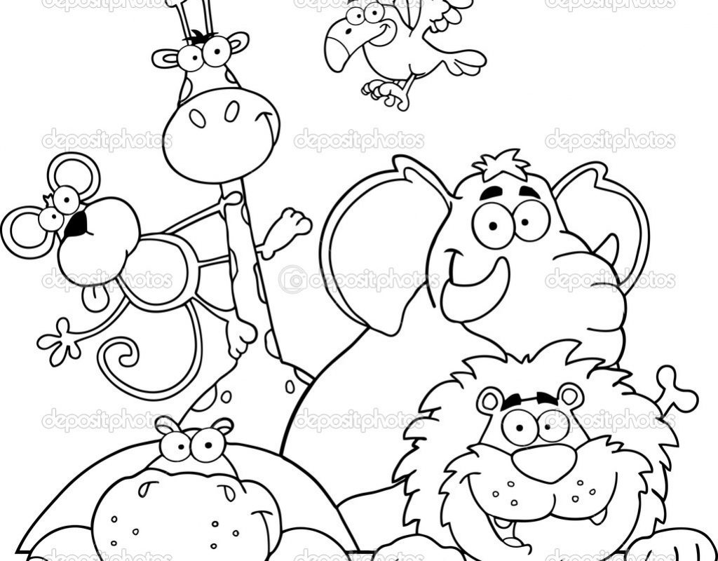 1024x800 Helpful Cute Animal Coloring Pages Best S Of Sea Animals Free