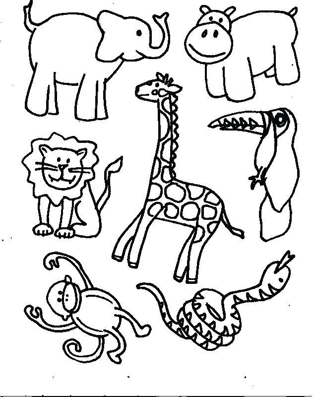637x800 Safari Animals Coloring Pages