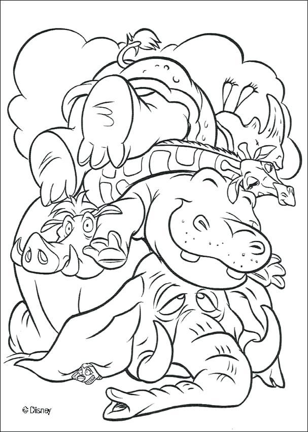 607x850 Safari Animals Coloring Pages Safari Animal Coloring Pages Free