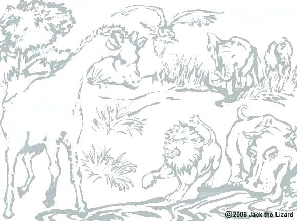 580x433 Safari Animals Coloring Pages Safari Coloring Pages Safari