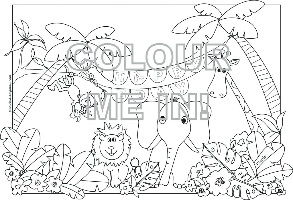 1023x698 Safari Coloring Page Jeep Coloring Pages Safari Coloring Pages
