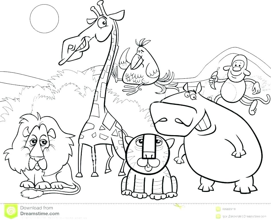 945x777 Safari Coloring Page Safari Coloring Page Safari Hat Coloring Page