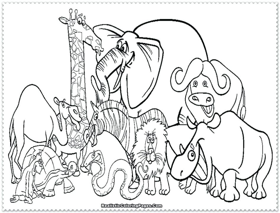 948x720 African Animal Coloring Pages Zebra