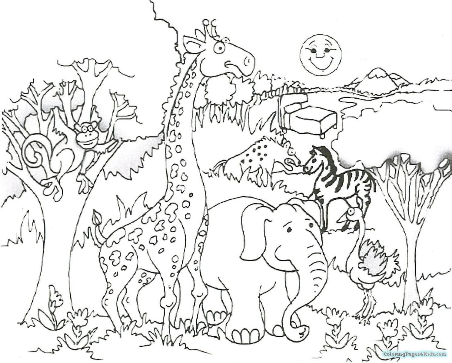 1492x1200 African Safari Drawing