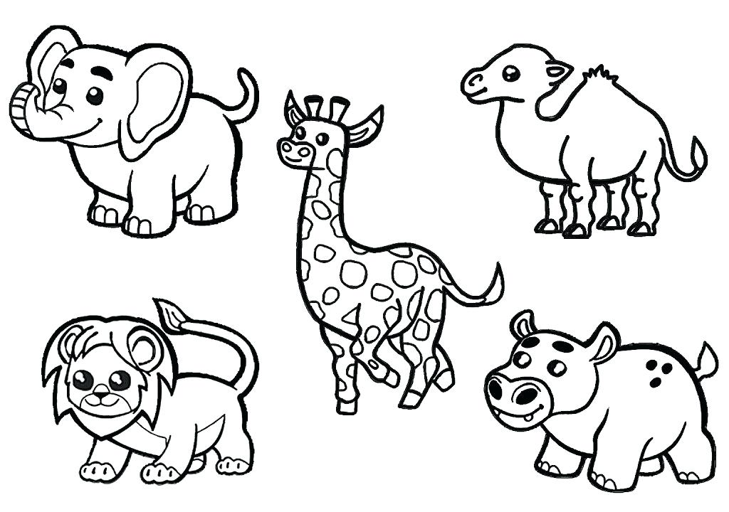 1024x720 African Coloring Pages Animals Coloring Page Free Pages For Kids