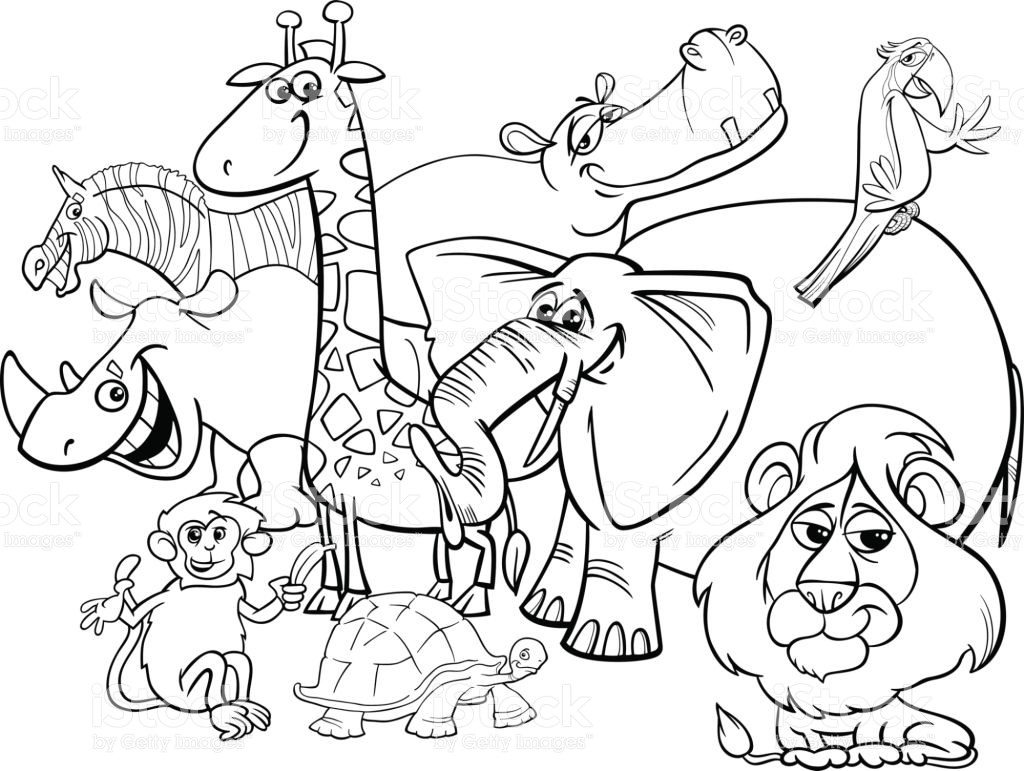 1024x771 African Safari Animals Coloring Pages