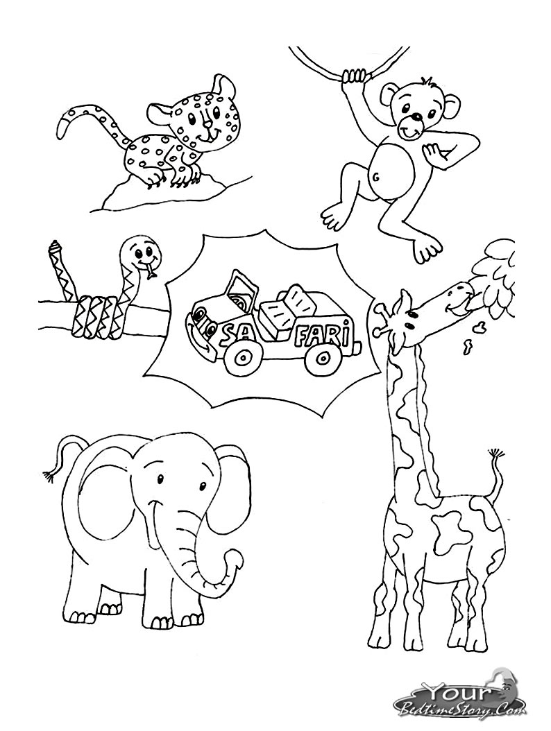 794x1054 African Safari Animals Coloring Pages Free Coloring For Kids