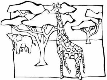 440x330 African Savanna Coloring Pages, Safari Or African Savanna