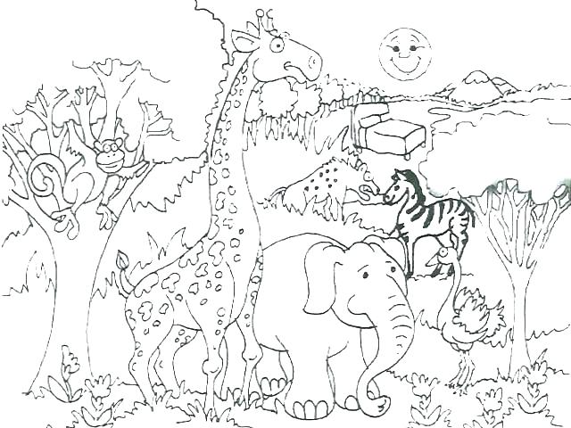640x480 Africa Map Coloring Pages Coloring Pages Map Coloring Page N