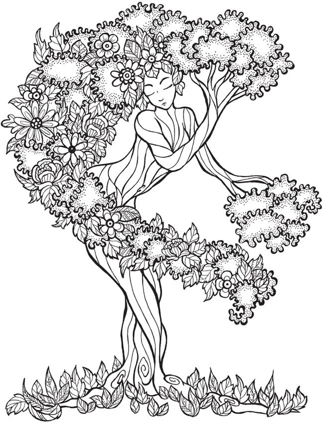 African Trees Coloring Pages