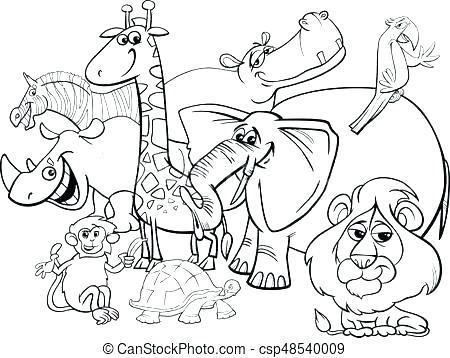 450x358 Safari Coloring Pages Safari Coloring Pages Animals Page Safari
