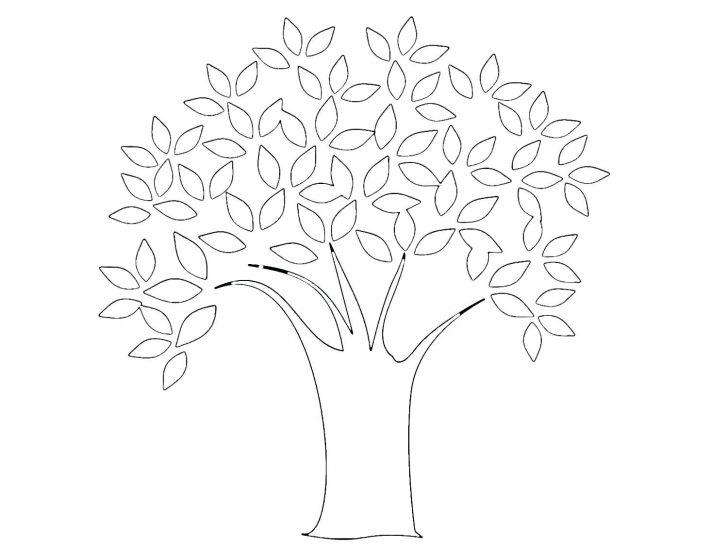 728x546 Tree Coloring Page Big Christmas Pages Printable Apple