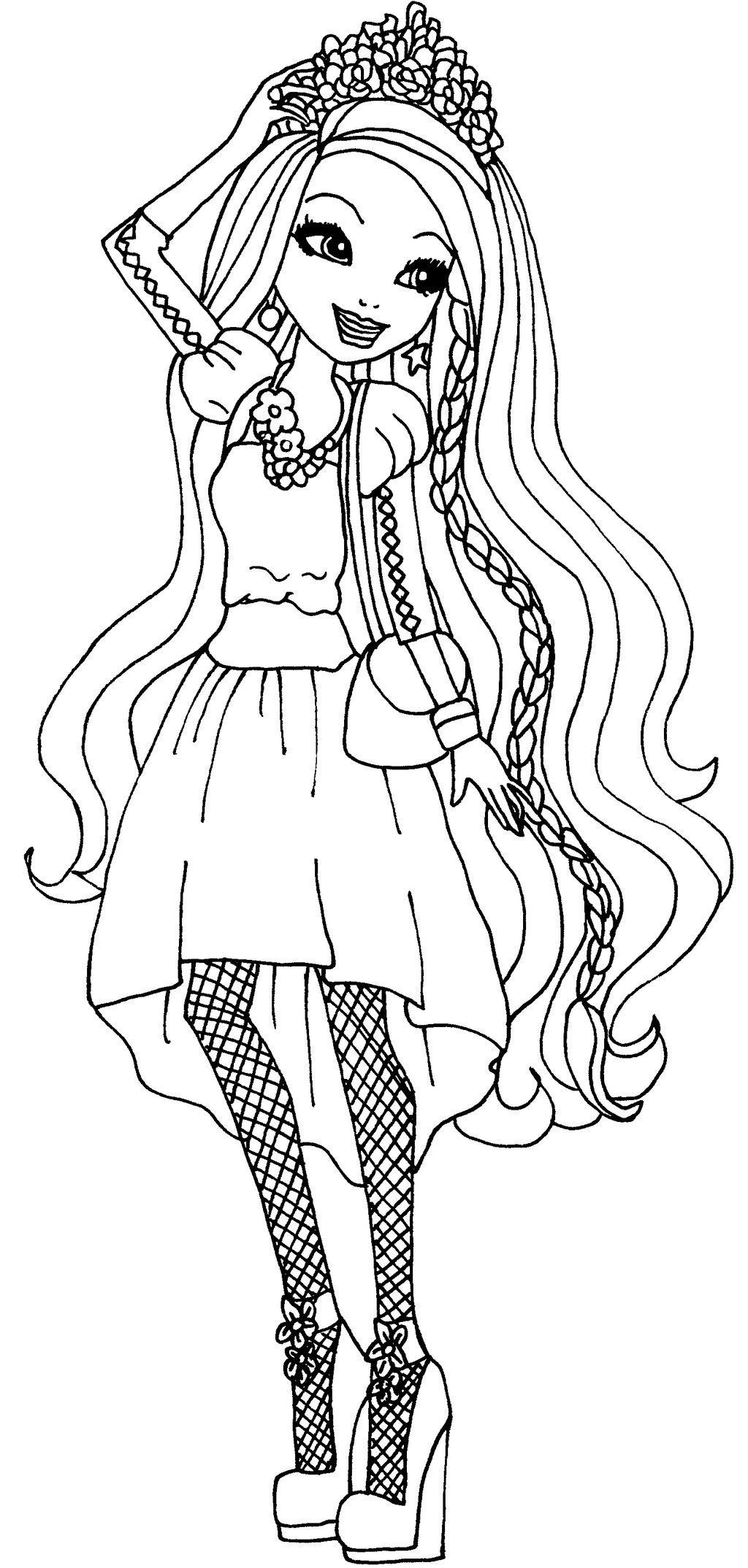 1024x2148 Ever After High Coloring Pages Holly O'hair
